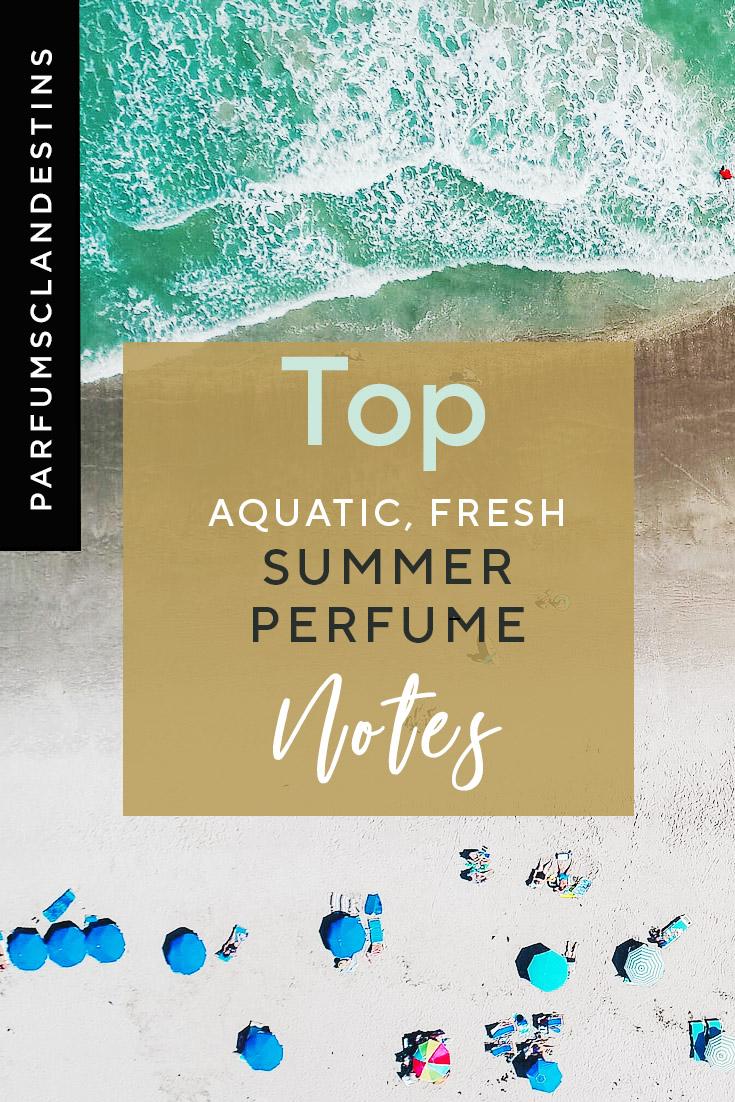 Marine notes in natural summer perfumes