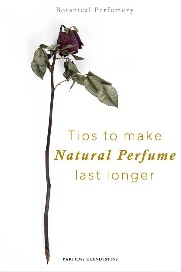 Tips to make natural perfume last longer